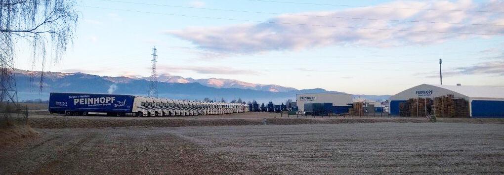 Die LKW Flotte von Peinhopf Transport und Logistik
