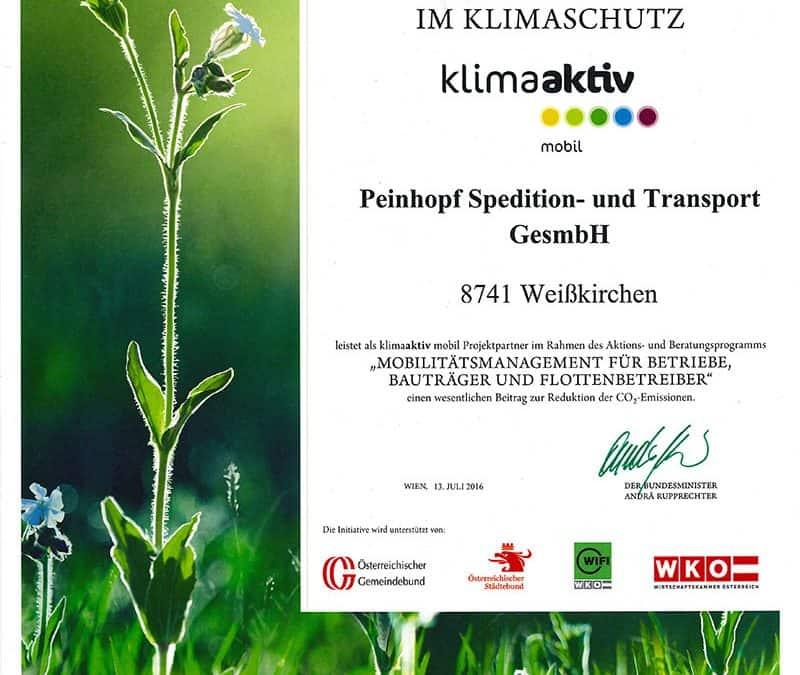 Auszeichnung für Kompetenz und Klimaschutz